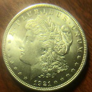 1921 silver Morgan dollor